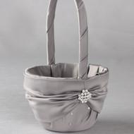 Celebration Flower Girl Basket in Platinum