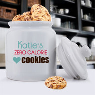 Zero Calories Personalized Ceramic Cookie Jar