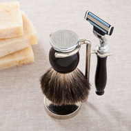 Badger Hair Brush and Razor Monogram Shaving Set