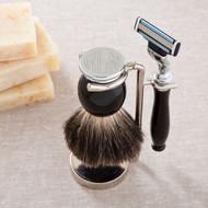 Badger Hair Brush and Razor Monogram Shaving Set