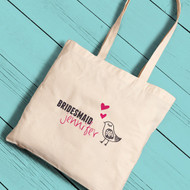 """My Favorite Chick"" Bridesmaid Tote Bag"