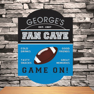 Football Fan Cave Classic Tavern Bar Sign