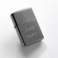 Black Ice Chrome Zippo Lighter