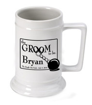 "Personalized ""Groom to Be"" Beer Stein"