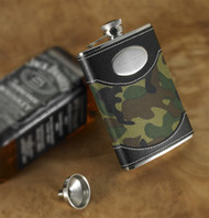 Green Camouflage Flask
