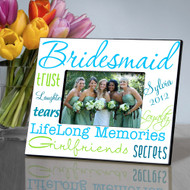 Personalized Something Blue Bridesmaid Picture Frame