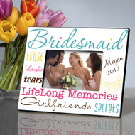 Personalized Classic Tones Bridesmaid Picture Frame