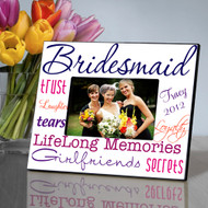 Personalized Perky Purple Bridesmaid Picture Frame