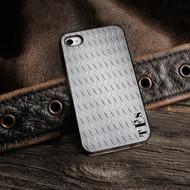 Diamond Plate iPhone Case with Black Trim