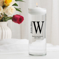 Whitley Monogram Floating Unity Candle Vase