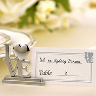 Silver LOVE Place Card Holders (Set of 4)