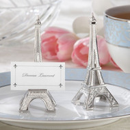 """Evening in Paris"" Eiffel Tower Silver-Finish Placecard Holder (Set of 4)"