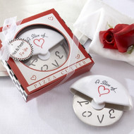 """A Slice of Love"" Stainless-Steel Pizza Cutter"