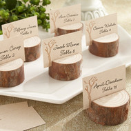 Rustic Real Wood Place Card/Photo Holder (Set of 4)