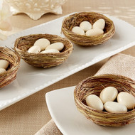 """Nestling"" Natural Bird Nest Favor Holder (Set of 12)"