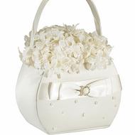 Ivory Pearl Flower Basket