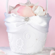 White Lace Flower Basket