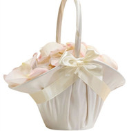 Simple Satin Flower Girl Basket
