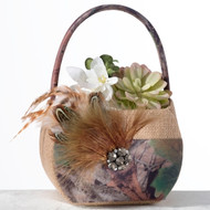 Camouflage Flower Basket