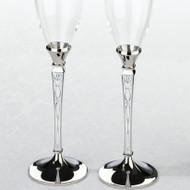 Retro Patterned Toasting Glass Set