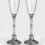 Beaded Toasting Glass Set