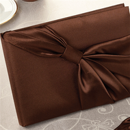 Brown Satin Guest Book