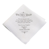 "Personalized ""To My Dad, First Man I Ever Loved"" Men's Handkerchief"