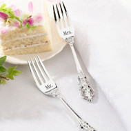 """Mr."" and ""Mrs."" Silver-Plated Fork Set"