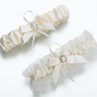 Ivory Pearl Flower Garter Set