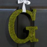 Moss Covered Monogram Letter