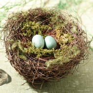 Mossy Bird Nest Ring Holder
