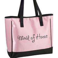 "Pink ""Maid of Honor"" Tote Bag"
