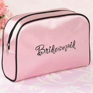 "Pink ""Bridesmaid"" Cosmetic Bag"