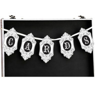 "Vintage ""Cards"" Banner in Black and White for Card Box"