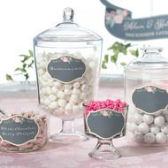Chalkboard Style Flower Glass Clings (Set of 12)