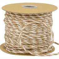 White and Natural Two Colored Jute Twine (50 Yards)