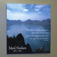Personalized Memorial Tranquil Wall Canvas