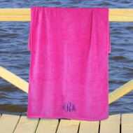 Embroidered Monogram Beach Towel
