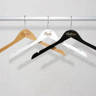 Custom Engraved Wooden Bridal Party Hanger