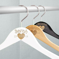 Custom Engraved Wooden Bridal Party Hanger with Heart