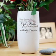 Personalized Memorial Ceramic Flower Vase