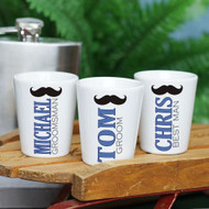 Personalized Mustache Shot Glass for Him
