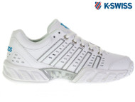 K-Swiss Bigshot Light LTR Omni Ladies Tennis Shoe (White/Hawaiian Ocean)