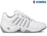K-Swiss Accomplish Omni III Ladies Tennis Shoe (White/Grey)