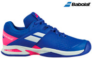 Babolat Propulse All Court Kids' Tennis Shoe (Princess Blue/ Fandango Pink)