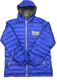 North Down AC Ladies Hooded Puffa Jacket (Royal Blue)