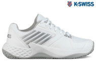 K-Swiss Aero Court Omni Ladies Tennis Shoe **NEW** (White/Silver)