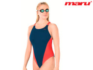 Maru Pacer Vault Ladies Swimsuit  Navy/Red