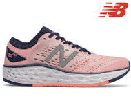 New Balance Vongo V4 Ladies Running Shoe (Peach Soda/Natural Indigo)