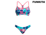Funkita Club Tropicana Ladies Swim Crop Top **TOP ONLY**